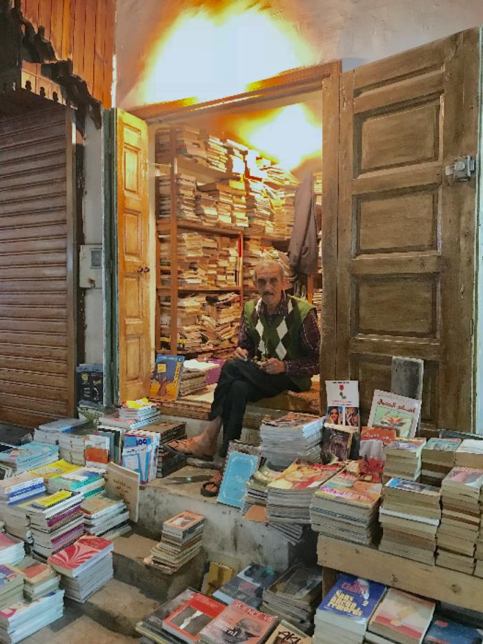 Book Seller in Morrocco
