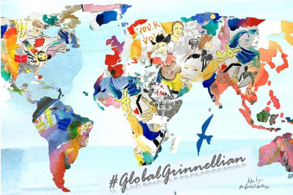 watercolor global grinnellian