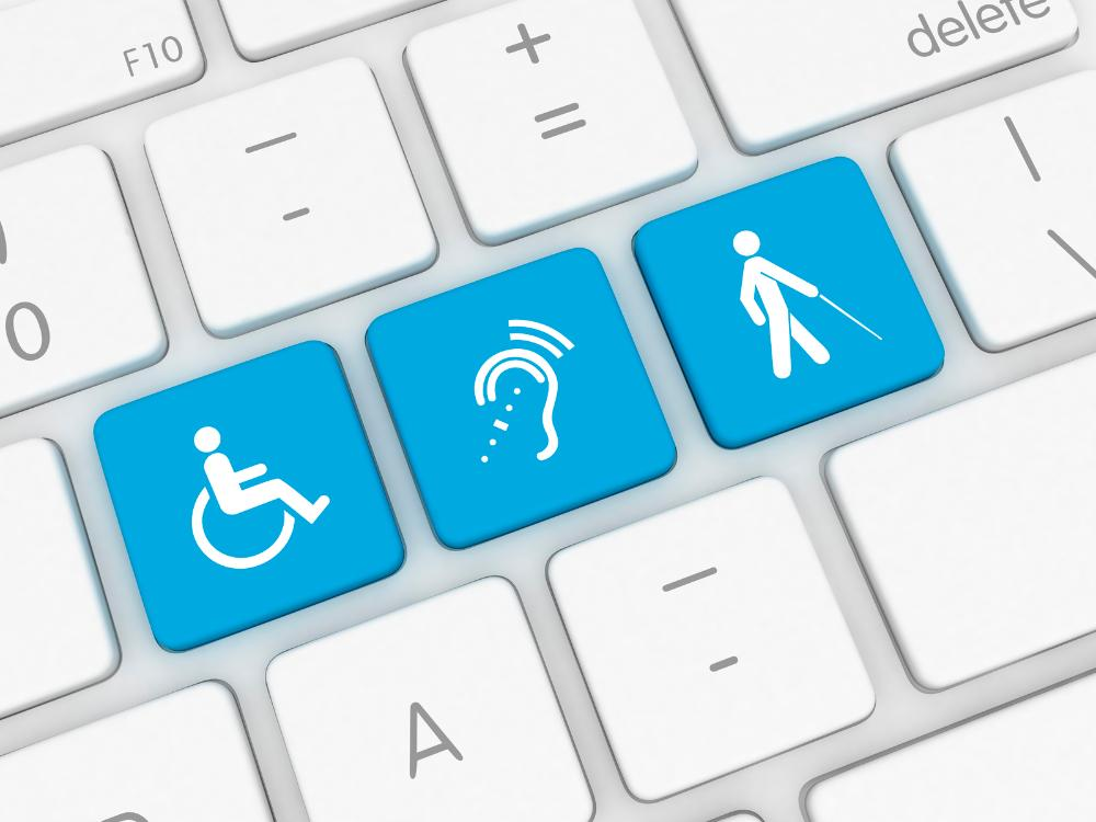 keyboard with disability icons